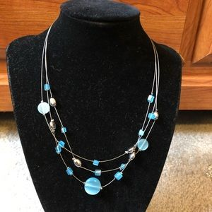 Lia Sophia Retired Beautiful Blue Necklace